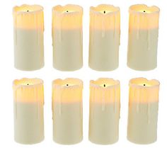 NEW Candle Impressions Set of 8 Flameless Votive Candles