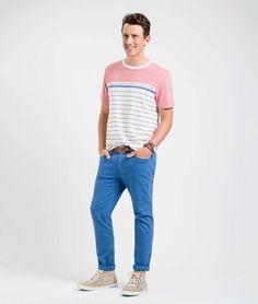 Richards - T-SHIRT FLAMÊ LISTRADA PARIS - T-shirts / T-Shirts / Masculino