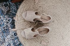 Beach and boho wedding shoes for bride - Crochet shoes - Click to see more bohemian wedding ideas on WeddingWire! {Ink & Opal Co.}