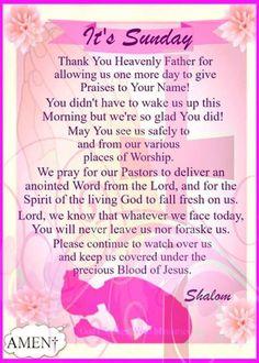 Blessed Sunday Morning, Sunday Prayer, Sunday Morning Quotes, Good Morning Prayer, Prayer For Today, Morning Blessings, Morning Prayers, Prayer Request, Happy Sunday Quotes