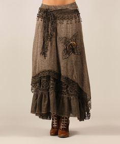 Love this Choco Kelly Wool-Blend Skirt on #zulily! #zulilyfinds