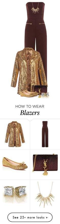 """Jumpsuits For Fall 3"" by majezy on Polyvore featuring Maison Margiela, Yves Saint Laurent, Kate Spade and Alexis Bittar"