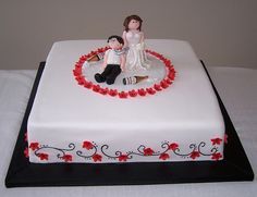 Single Tier Wedding Cake by cakespace - Beth (Chantilly Cake Designs), via Flickr