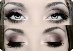 pinkish gray eye look