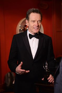 """Bryan Cranston, winner of @The Tony Awards  for Best Performance by an Actor in a Leading Role in a Play for All The Way"""", in the Paramount Hotel Winners' Room at the 68th Annual Tony Awards on June 8, 2014 in New York City. (Photo by Mike Coppola/Getty Images for Tony Awards Productions) #TonyAwards"""