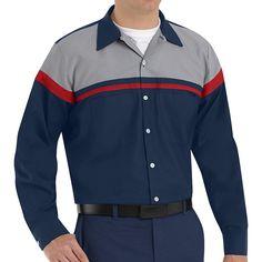 Men's Red Kap Classic-Fit Technician Button-Down Work Shirt, Size: