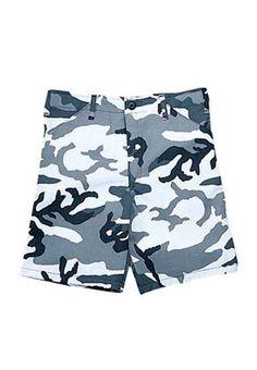 Kids City Camo BDU Shorts