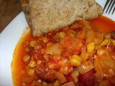 Csiperke blogja: Csicseriborsós lecsó Chana Masala, Ethnic Recipes, Food, Essen, Meals, Yemek, Eten