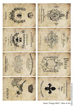 Papel Vintage, Art Vintage, Vintage Crafts, Vintage Tags, Vintage Labels, Vintage Ephemera, Vintage Colors, Vintage Paper, Vintage Posters