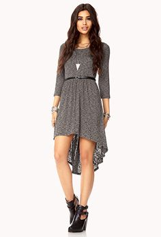 Easy High-Low Dress w/ Belt | FOREVER21 - 2000051947
