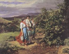 Waldmüller - Die Liebenden am Scheideweg - Heimkehr von der Arbeit - Ferdinand Georg Waldmüller - Wikimedia Commons
