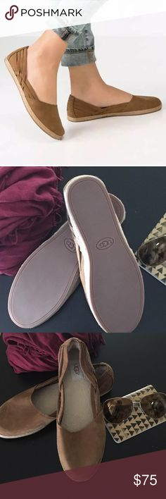 New UGG chestnut sandals Brand New UGG Tippie Nubuck Espadrilles flats, Chestnut color, soft suede, 100% authentic UGG Shoes Flats & Loafers