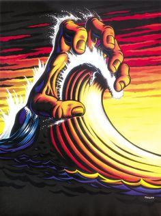 jim phillips_hand wave, surf crazed comics, 1992