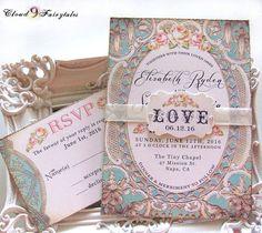 Peach and light blue wedding | The Merry Bride