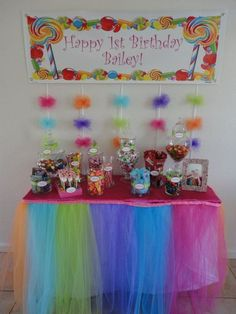 Candy table for my baby birthday