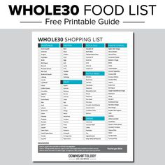 Whole30 Food List: What to Eat and Avoid for Optimal Results | Downshiftology Whole30 Food List, Healthy Food List, Healthy Chicken Recipes, Gourmet Recipes, Vegan Recipes, Healthy Eating, Paleo Food, Keto Foods, Paleo Diet