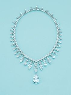 Tiffany  and Co. Majestic Diamond Necklace . One of Top 10 Most Epensive Necklaces the highlight is a 41ct. Pear shaped Diamond Pendant and sells for $2.5 Million