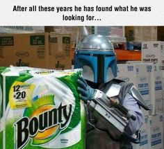 He Finally Found It - He's a Bounty hunter after all....