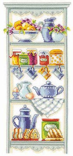 Kitchen Shelf Cross Stitch Kit by Vervaco