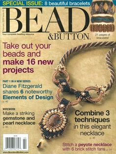 Feb 2009 N° 89 - lucy bisuteriabb - Picasa Web Albums Crochet Jewelry Patterns, Beading Patterns, Beading Projects, Beading Tutorials, Magazine Beads, Beaded Jewelry, Beaded Bracelets, Diy Jewellery, Bangles