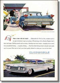 1959 Oldsmobile Ninety-Eight & 88 Holiday Car-Ad