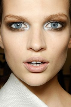 bronze and silver eye at gianfranco ferre spring 2013