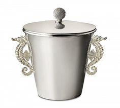 Asprey-seahorse ice bucket.