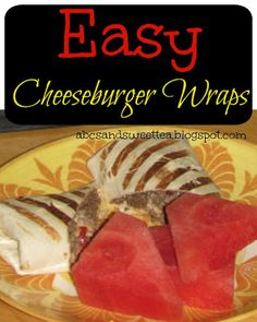 These cheeseburger wraps make a great weeknight meal!