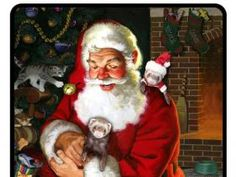 Santa Sitting With Ferrets photo http://www.pinterest.com/jbjund/ferrets-with-pester-and-freya/