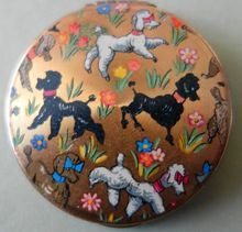 """Darling"" Poodle Powder Compact (1950s)"