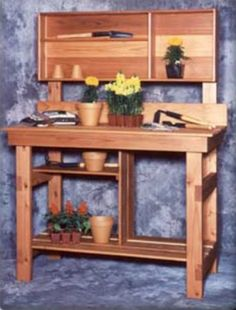 Classic Potting Bench With Hutch Top