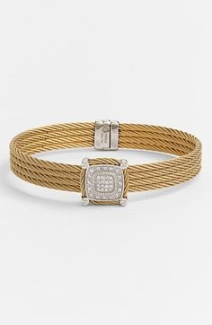 Charriol ® 'Celtic Noir' Square #Diamond Station #Bracelet #jewelry #diamonds