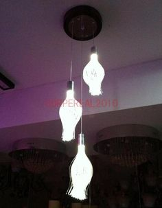 LED Fibre Optic Chandelier Lamp Home Dining Room Pendant Light Ceiling Lights