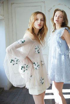 Dress: romantic dress, romantic summer dress, ruffle, ruffle dress, blue dress, light blue, nude dress, embellished, special occasion dress - Wheretoget