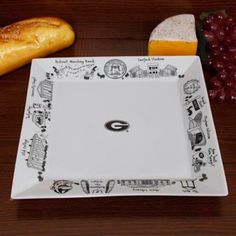 Georgia Bulldogs White Signature Etched Serving Platter.. Love these
