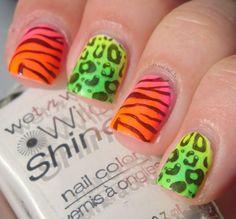 Neon Animal Print