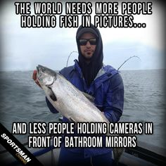The world needs more people holding fish in pictures...