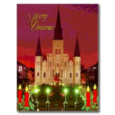 Christmas Cathedral Post Card