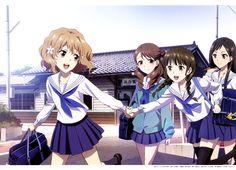 Matsumae Ohana, Wakura Yuimei, Osimizu Nako, Tsurugi Minko @ Hanasaku Iroha