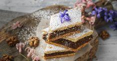 Bohatá aaromatická orechová plnka uzavretá medzi dvoma plátmi krehkého cesta. Baked Goods, Cheesecake, Baking, Food, Pastries, Cheesecakes, Bakken, Essen, Tarts