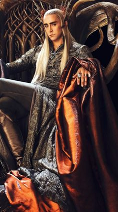 Lee Pace as Thranduil...  That hat and those eyebrows...