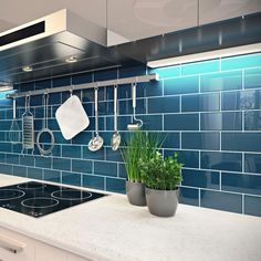 Contemporary Blue Subway Tile Backsplash 70 Creative Fantastic Glass Kitchen Down Full Size Of Light Dark Teal X Piece Bathroom Australium Shower Canada Lowe Blue Kitchen Tiles, Glass Tile Backsplash, Teal Tiles, Glass Kitchen, Glass Tile Bathroom, Subway Tile Kitchen, Wall Tile, Blue Glass Tile, Blue Subway Tile