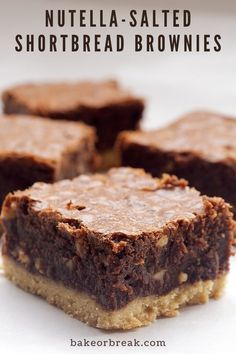 Köstliche Desserts, Delicious Desserts, Dessert Recipes, Yummy Food, Plated Desserts, Dessert Healthy, Best Brownie Recipe, Brownie Recipes, Cookie Recipes