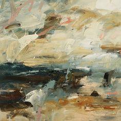 Louise Balaam - GOLDEN AIR AND SALT SPRAY, Oil on Canvas, 31 1/2 x 31 1/2 in, 80 x 80 cms