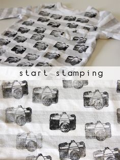 Fabric stamping ink + rubber stamp of your choice = cool new shirt! It's also recommended for hiding stains.