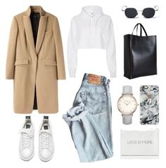 A fashion look from March 2017 featuring hoodie shirt, rag bone coat and flat lace-up shoes. Browse and shop related looks. Winter Fashion Outfits, Look Fashion, Autumn Winter Fashion, Fall Outfits, Womens Fashion, Street Style Outfits, Mode Outfits, Cute Casual Outfits, Stylish Outfits