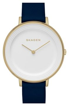 Skagen 'Ditte' Round Textured Dial Watch, 37mm (Nordstrom Exclusive) available at #Nordstrom