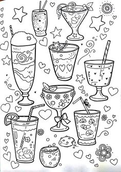 Party drink doodles