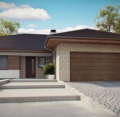 Z301 to wyjątkowy dom z kategorii projekty domów z garażem dwustanowiskowym House Plan With Loft, Model House Plan, Family House Plans, New House Plans, Bungalow House Plans, Bedroom House Plans, House Layout Plans, House Layouts, Morden House