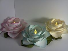 more rose tea lights! I could use a silk flower to  make these.